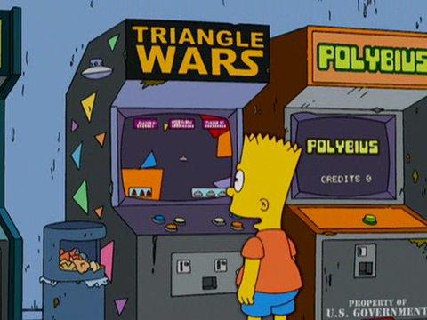 Polybius en Los Simpson.