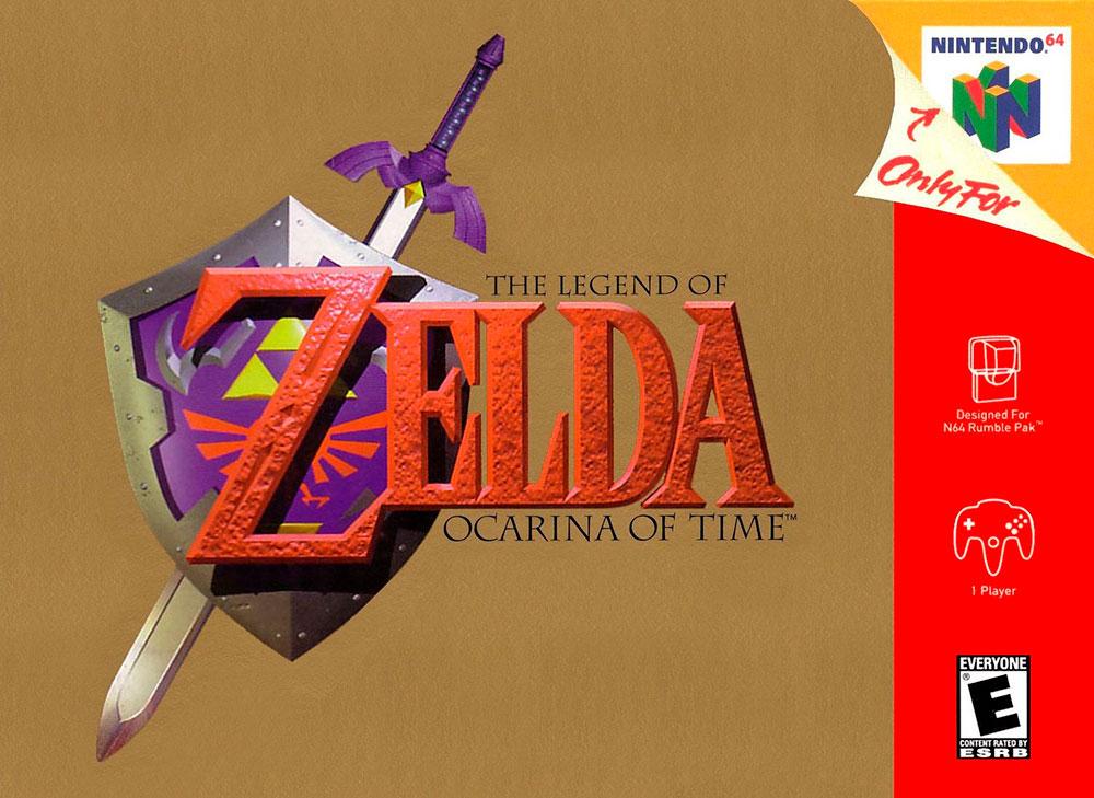 Portada de The Legend of Zelda:Ocarina of Time